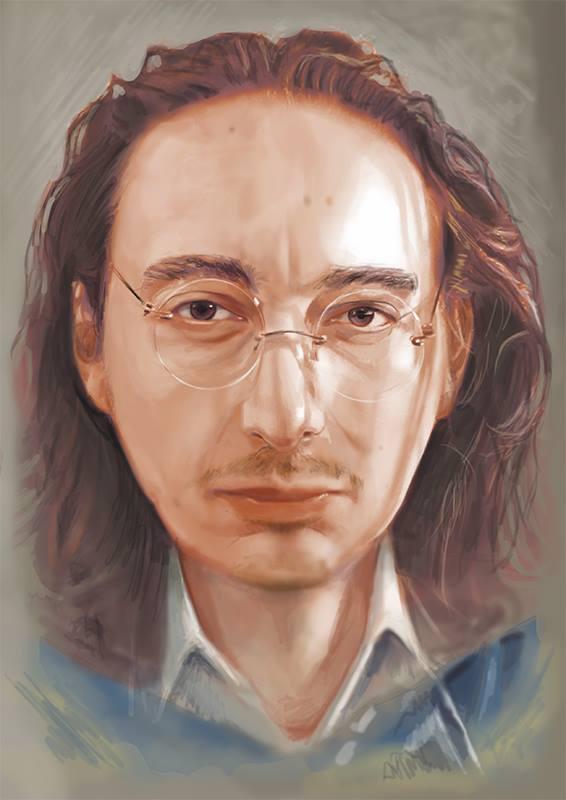 Tuncay Talayman's portrait of Mert Börü